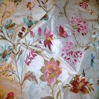 绣花丝绸面料 制造商
