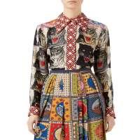 印花丝绸衬衫 制造商