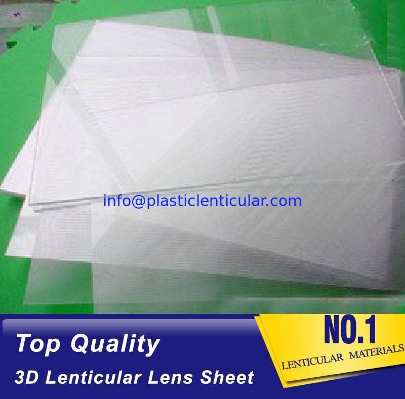 Clear Plastic Lenticular Printing Sheet Price Suppliers 60 LPI 3D Flip Lenticular Plastic Lens Blanks
